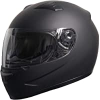 Rallox Helmets Integralhelm 051-1 schwarz/matt Rallox Motorrad Roller Sturz Helm (XS, S, M, L, XL) Größe M