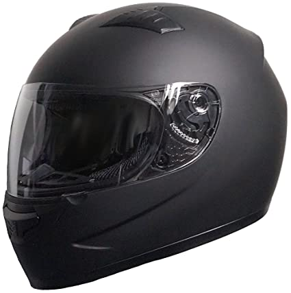 RALLOX Helmets - Casco de moto Integral Scooter Negro mate Rallox 805 (SML XL)  tamaño S