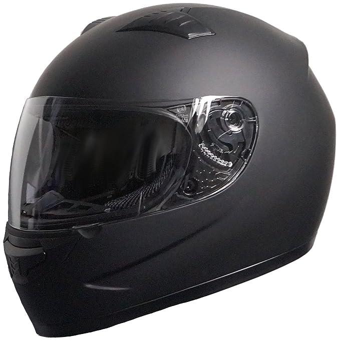 Amazon.es: Casco Integral 051 - 1 Negro/Casco de Moto Mate (XS, S, M, L, XL) tamaño Grande L de Rallox Helmets