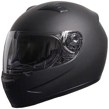 RALLOX Helmets - Casco de moto Integral Scooter Negro mate Rallox 805 (S M L XL)