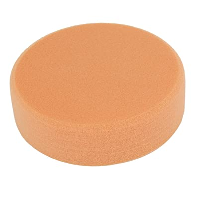 uxcell Sponge Sanding Buffing Polishing Pad, 150mm x 40mm, White/Orange: Home Improvement