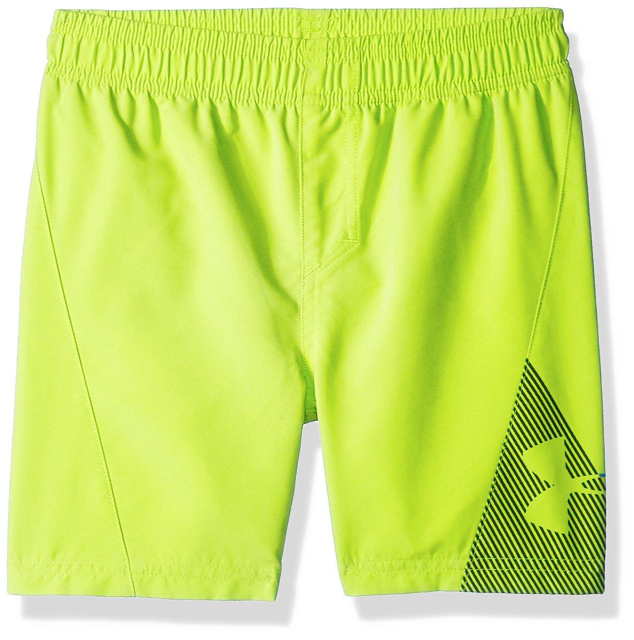 Under Armour Slash Volley Little Boys' Swim Shorts, Hi Gh/Vis Yellow, 5