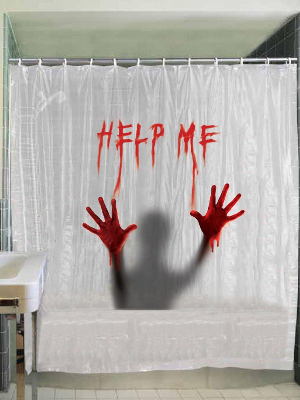 Help Me Shower Curtain