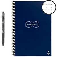 Rocketbook - Cuaderno de espiral reutilizable borrable, Azul Midnight, Executive