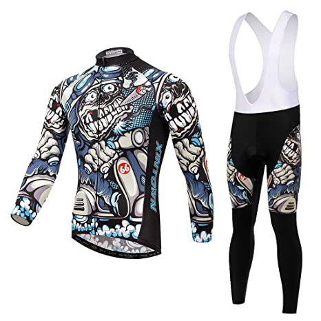 6545185db56322 SKYSPER Abbigliamento Ciclismo Set Abbigliamento Sportivo per Bicicletta Maglia  Manica Lunga+Pantaloni Lunghi