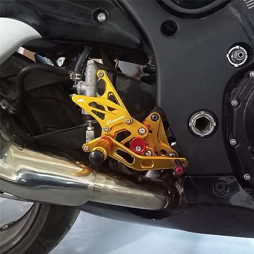 Rearsets Rear Sets Footpegs CNC Adjustable For Suzuki Hayabusa GSX1300R 2008-2015