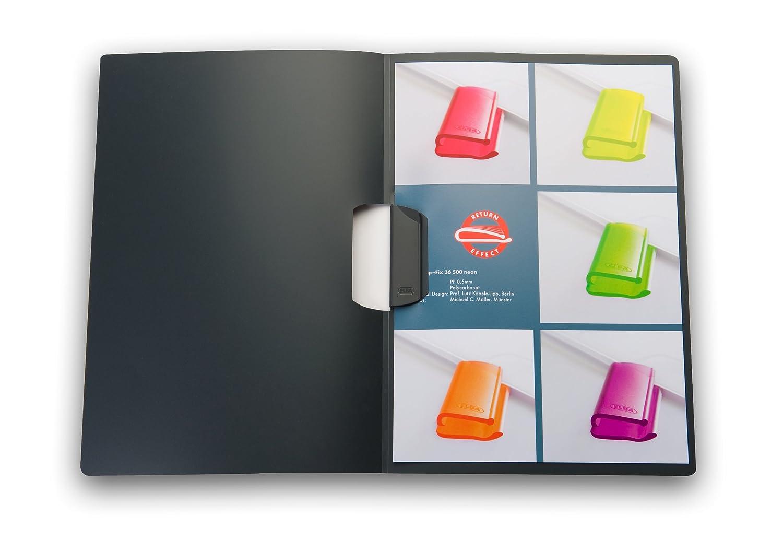 0,5 mm Elba 36490RTS in polipropilene 10 pezzi colore tortora semitrasparente Cartellina con molla fermafogli per circa 30 fogli in formato DIN A4
