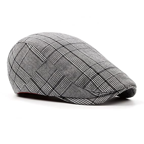894a06d956f ZLSLZ Mens Tweed British Woolen Newsboy Paperboy Cabbie Gatsby Cap Hat for  Men (BLACK1) at Amazon Men s Clothing store