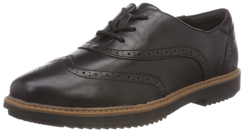 Clarks Womens Shoe Raisie Hilde Black Leather 5.5 E -