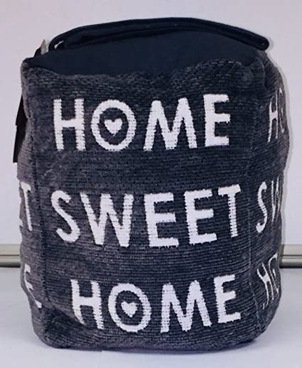 Grey Home Sweet Home Door Stop   Door Stopper   Beanbag Wedge