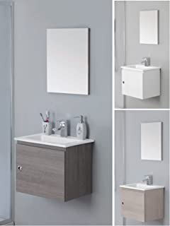 Mobile bagno 50 cm larghezza lavabo rettangolare design specchio ...