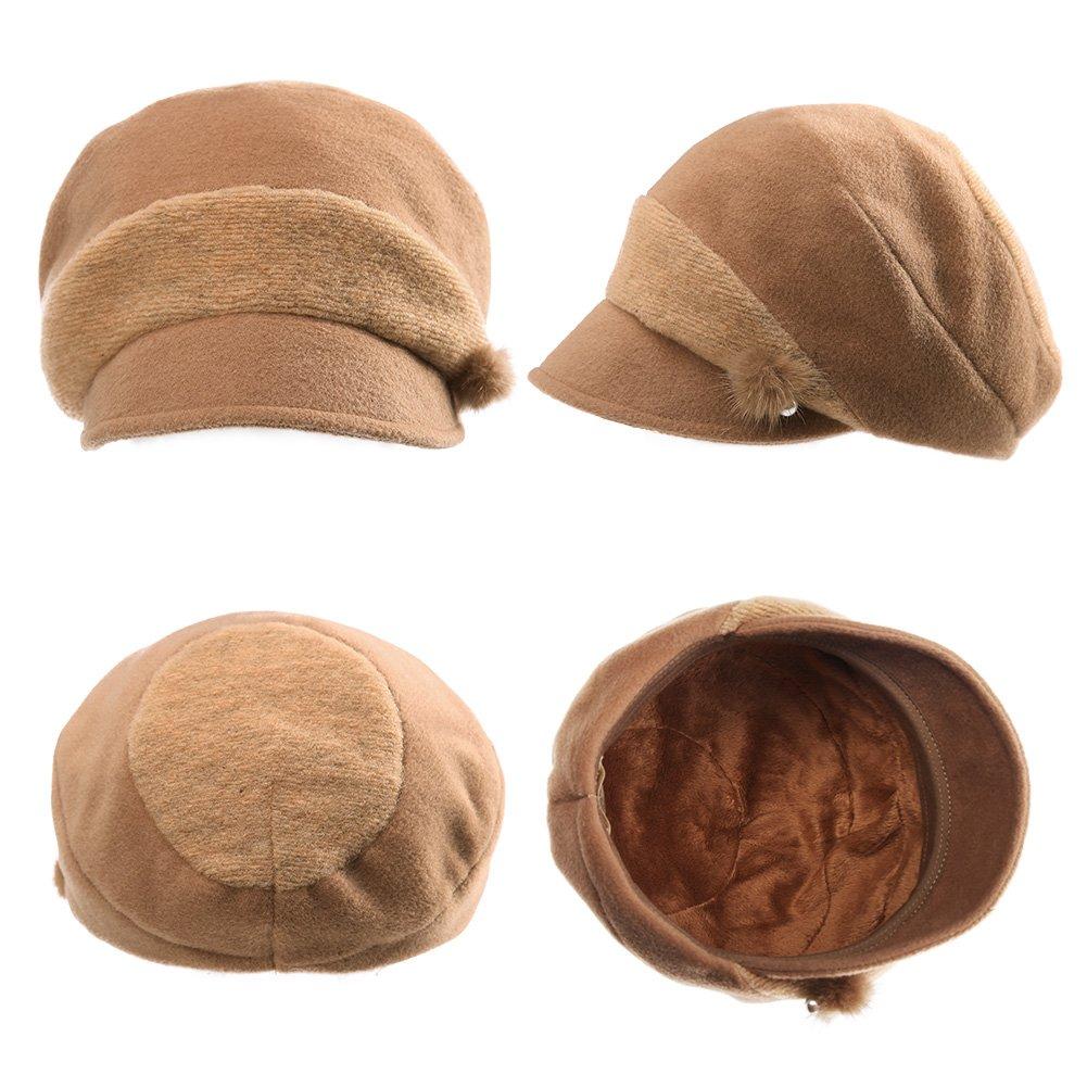 d3a2edc4 Siggi Womens Wool Blend Beret Visor Cloche Hat Newsboy Baker Boy Cap ...
