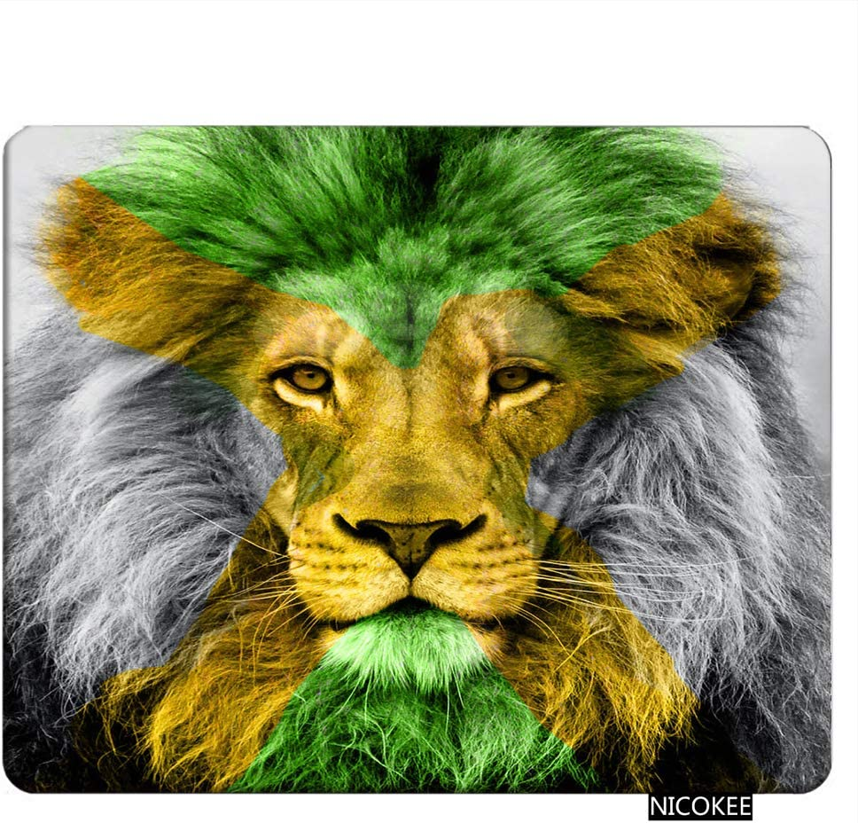 Knseva Customized Mouse Pad Oblong Thinking Lion Personalized Mousepad Non-Slip Gaming Mouse Pads