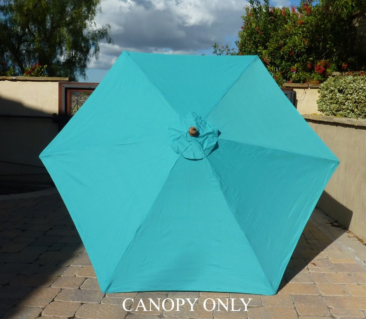 Amazon.com : 9ft Umbrella Replacement Canopy 6 Ribs In Turquoise Olefin ( Canopy Only) : Outdoor And Patio Furniture Accessories : Garden U0026 Outdoor