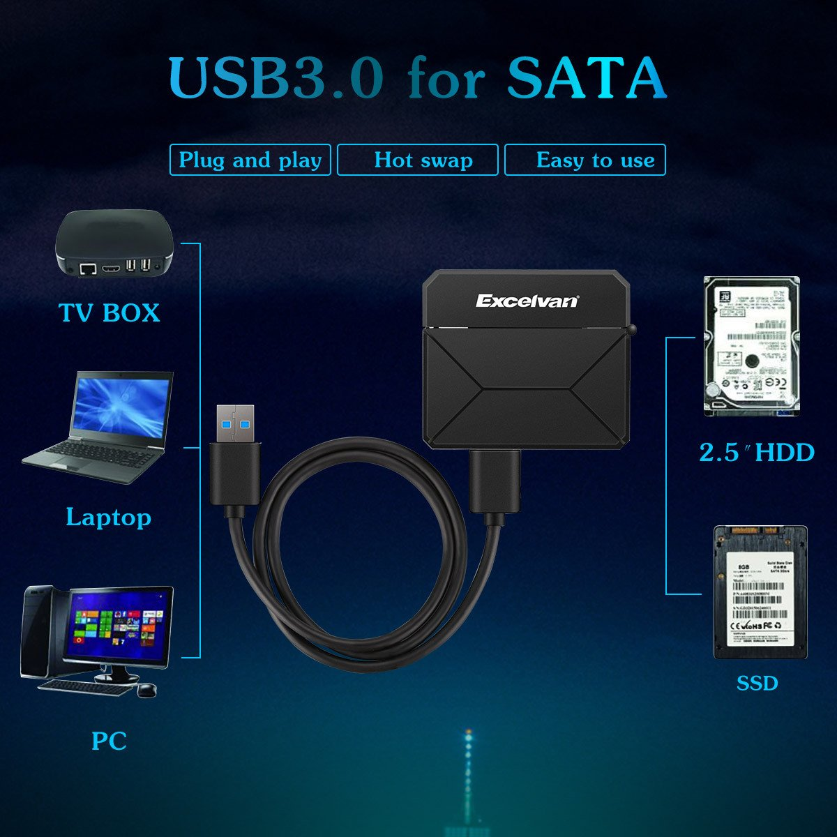 Excelvan USB3.0 2.5