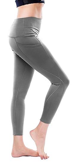 855ac0dd5f0 Tuerton High Waist Out Pocket Yoga Pants Tummy Control Workout Running 4  Way Stretch Yoga Leggings