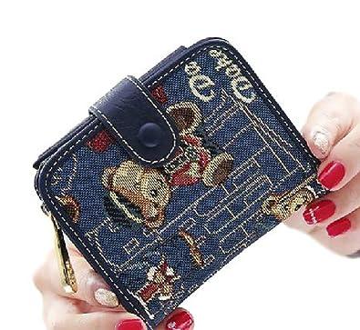 b43a234d586b レディース ウォレット 財布 ミニ キュート 可愛い おしゃれ テディベア 大容量 三つ折り ポップ オリジナルエコバッグ
