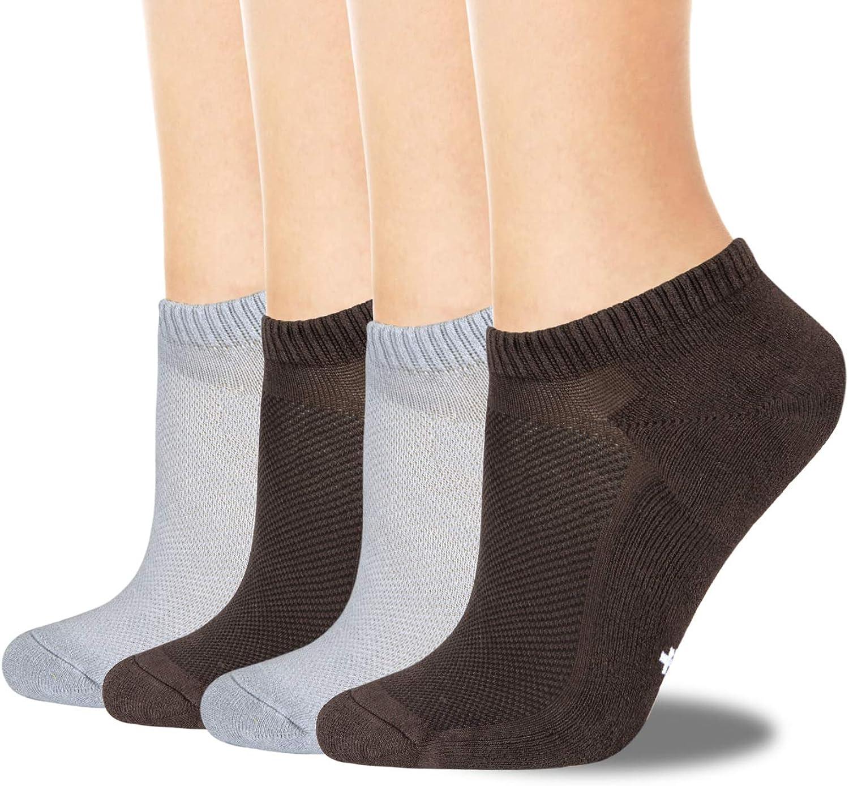 +MD 4 pares de calcetines de bamb/ú de primera calidad para hombre de absorci/ón de humedad s/úper suave y calcetines antibacterianos