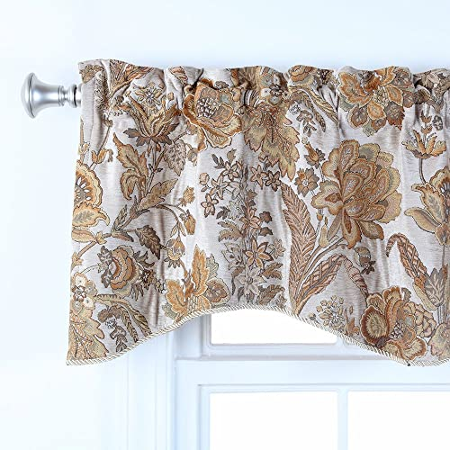 Waverly Home Classics 20-in Cashmere Pearl Ascot Valance