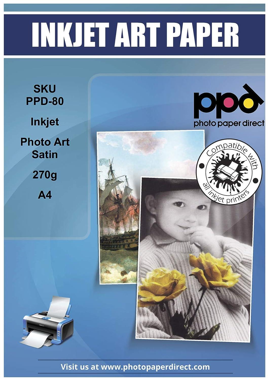 25 hojas PPD A4 de papel fotogr/áfico Arte Satinado 270 g