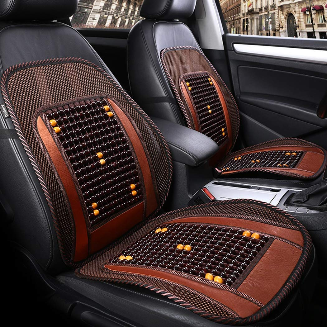 Y&Jack Wooden Beads Cushion Breathable Summer Beads Car Seat Cushion Office Chair Cool Pad,A