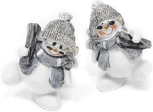 lustige Schneemänner Keramik Deko Weihnachtsdeko 3 Motive Christmas X-Mas
