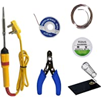 Generic 6 in1 Electric Soldering Iron Stand Tool Wire Stripper Kit 25 Watt Welding Stick Set