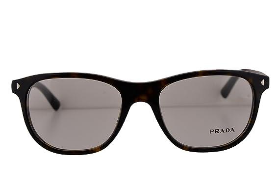 4becbac2956 Prada PR17RV Eyeglasses 54-19-145 Havana 2AU1O1 VPR17R (FRAME ONLY)   Amazon.co.uk  Clothing