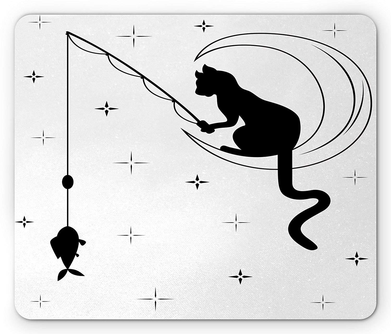 Cojín de ratón Moderno, Pesca del Gato con la Cola Larga Que ...