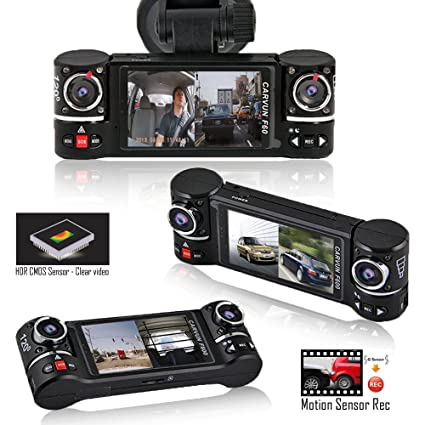 Indigi® F5 coche Dash Cam con detección de movimiento, grabación Dash cámara de protección