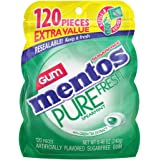 Mentos 120 Piece Gum Sugar Free, Spearmint, 4 Count