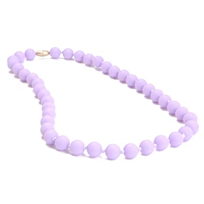 Chewbeads Jane Teething Necklace (Violet) - Original Fashionable Infant Teething Jewelry for Mom. 100% Medical Grade Silicone Safe for Teething Babies and Toddlers. BPA Free : Baby Teether Toys : Baby