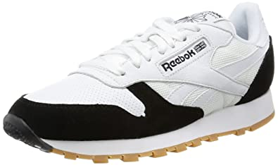Reebok CL Leather Spp White Black Gum Sneakers Scarpe Da Ginnastica Bianche Nere