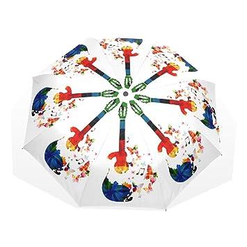 deyya resistente al viento paraguas de Golf paraguas de viaje música guitarra irrompible ligero 8 costillas
