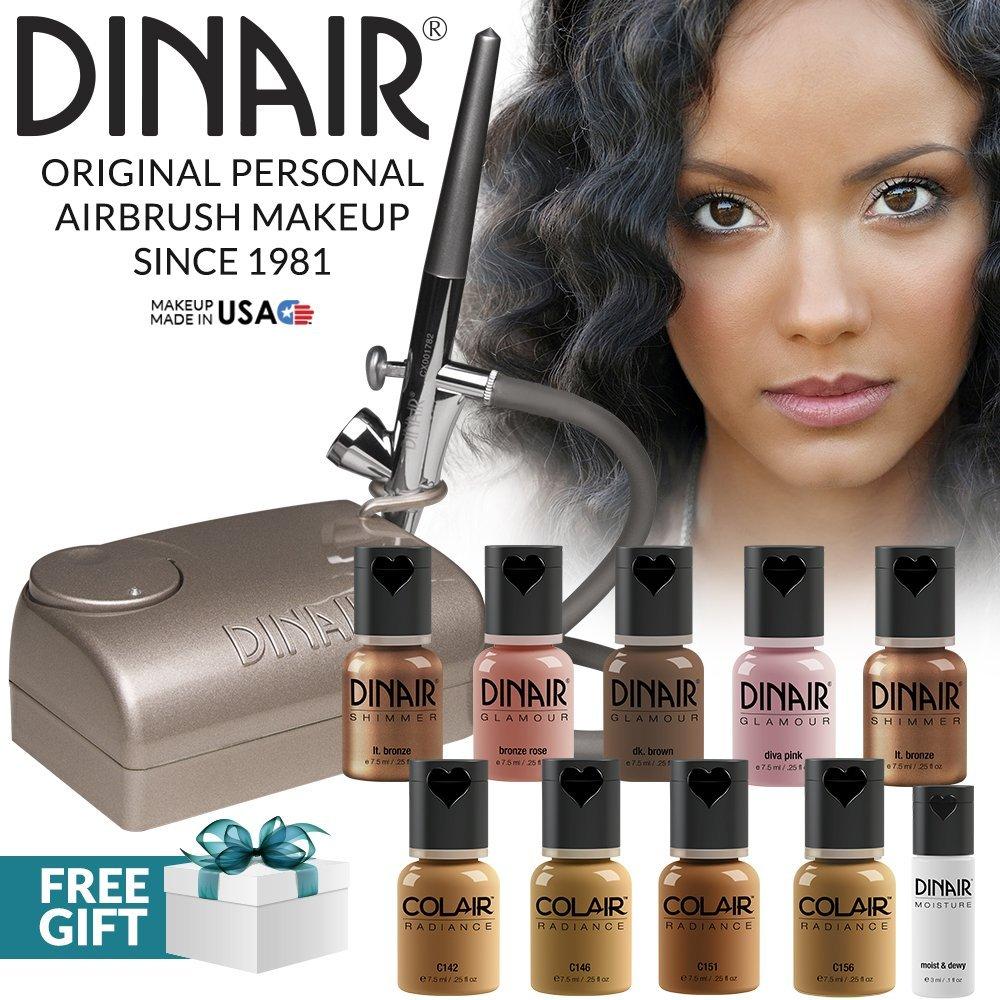 Dinair 10pcs (10 piece kit, Tan)