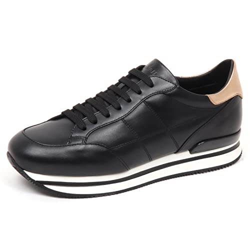 E0258 sneaker donna nero HOGAN H222 H cucitura shoe woman