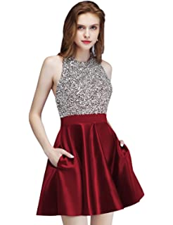 ab422fd57a4d9 MEILISAY Meilishuo Beaded Sparkly Prom Ball Gown Short Mini ...