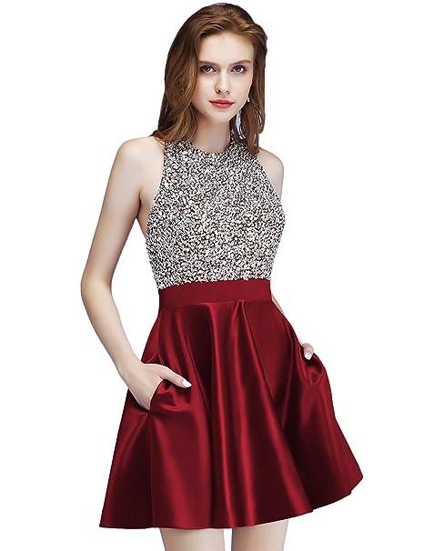 Amazon.com: LCRS Juniors Short Prom Dress