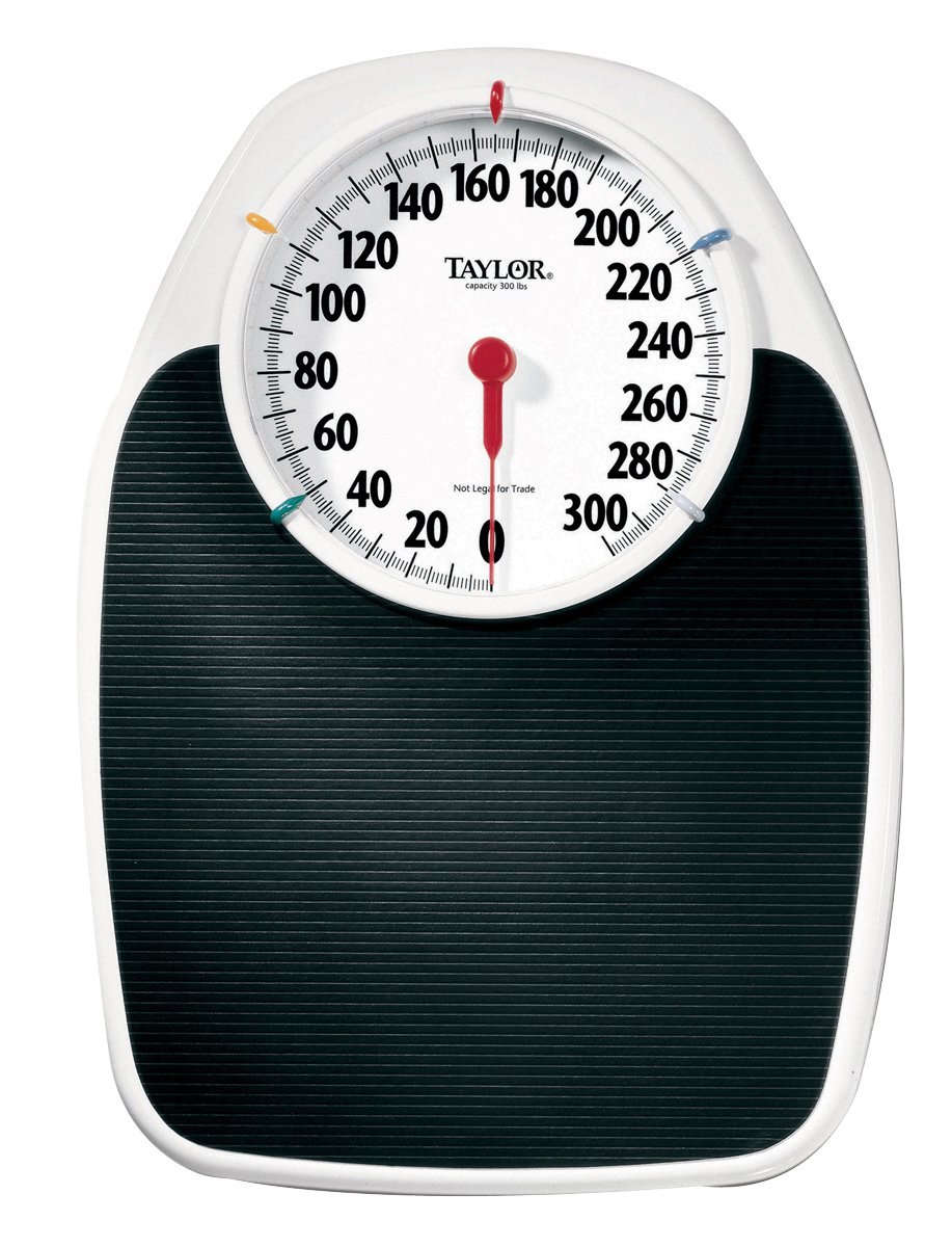 Baseline 12-1320 Large Dial Scale, 330 lbs  Capacity, 6.5'' Dial on 17'' x 11'' Platform