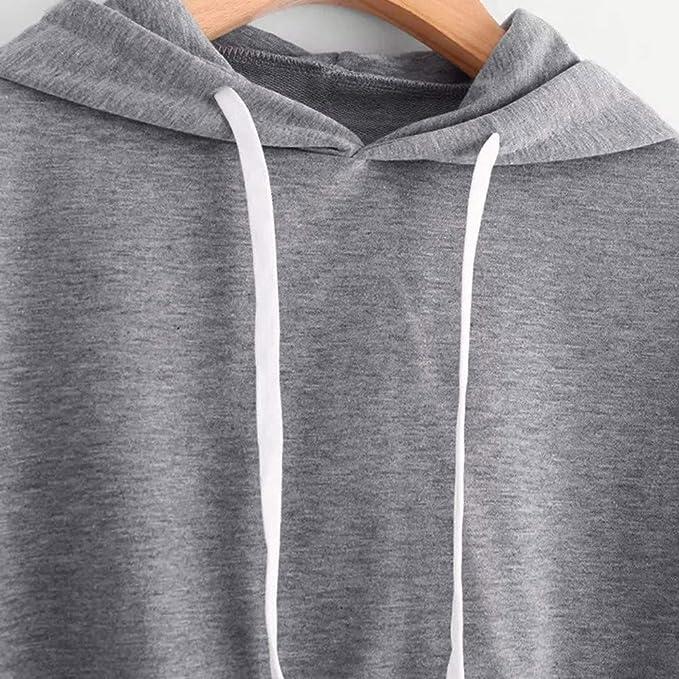 Redshop Women Autumn Causal Long Sleeve Hoodie Sweatshirt Letters Hooded Pullover Tops Blouse