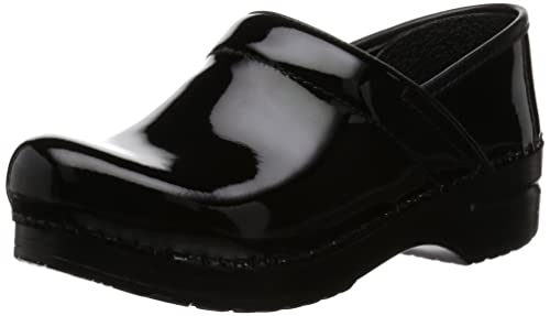 af4d4a28c2fb Dansko Women's Professional Patent Leather Clog,Black Patent,35 EU / 4.5-5