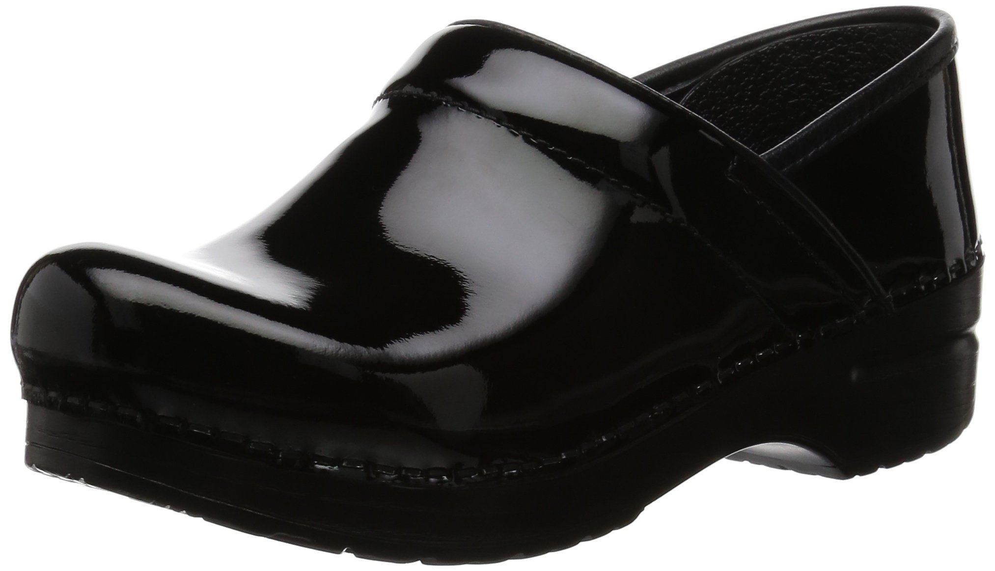 Dansko Women's Professional Patent Leather Clog,Black Patent,36 EU / 5.5-6 B(M) US