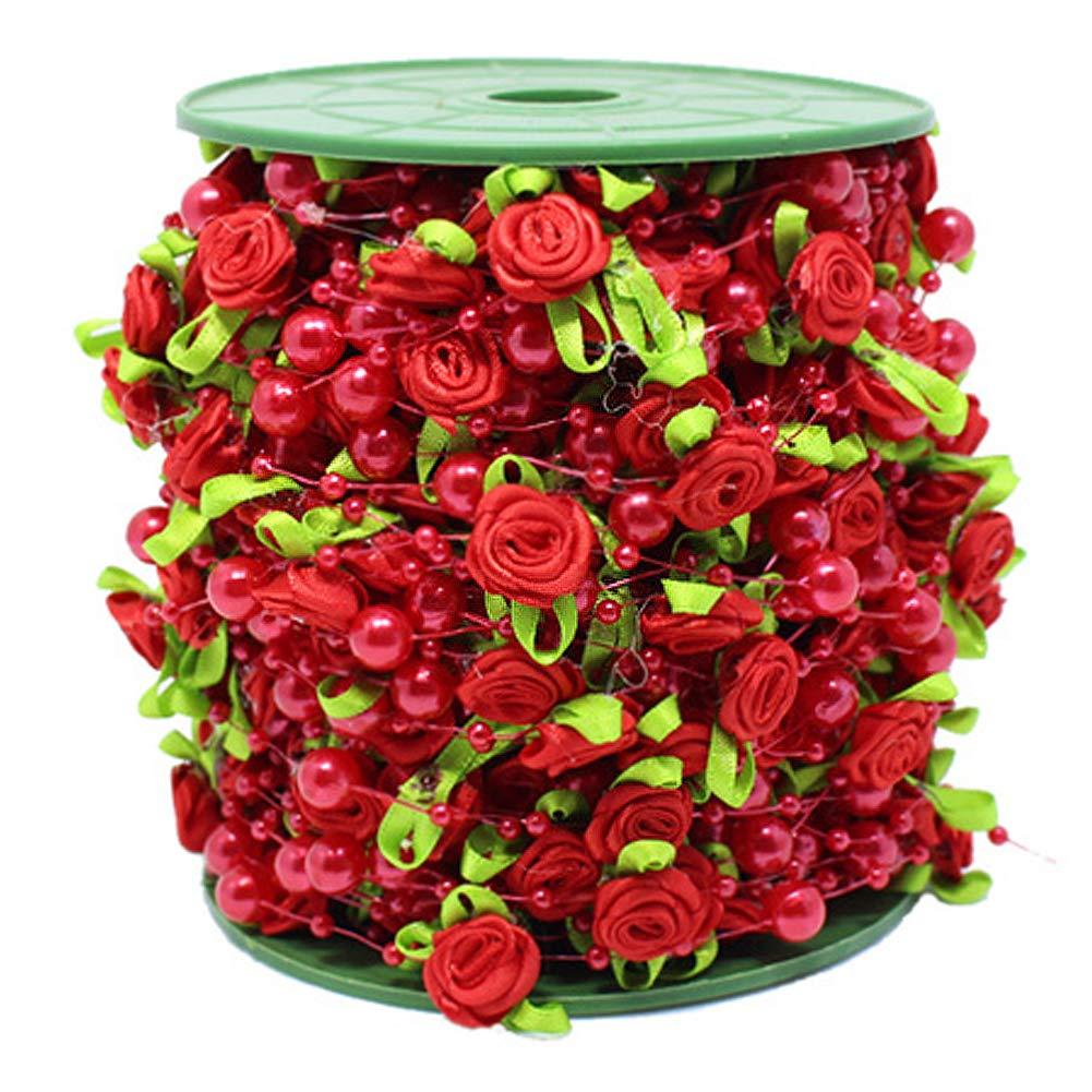 Octubre Elf Rose Cuentas de Cadena de 82 pies Guirnalda Adornos para Boda Flor decoraci/ón Manualidades