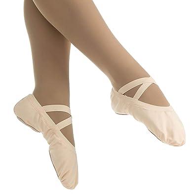 Danzcue Zapatillas de Ballet con Suela elástica elástica de Lona para Mujer: Amazon.es: Zapatos y complementos