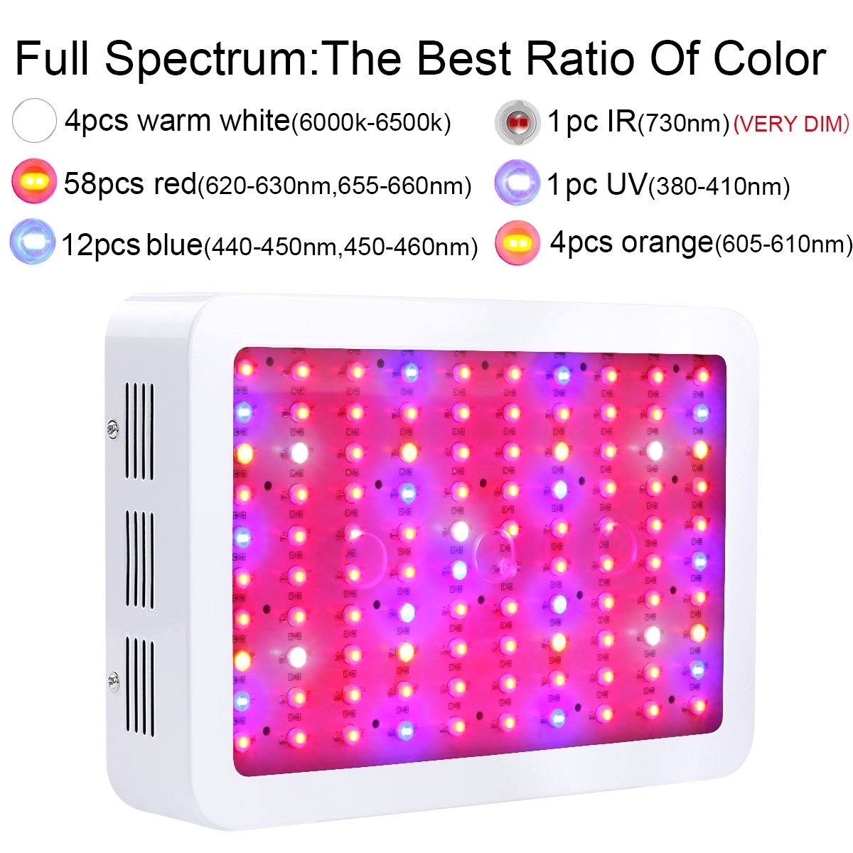 King plus 800w double chips full spectrum led grow light amazon king plus 800w double chips full spectrum led grow light amazon patio lawn garden parisarafo Image collections
