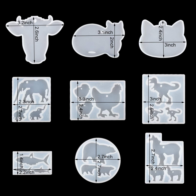 107 Piezas Kit de Molde de Fundici/ón de Resina con Llaveros y Bolsa de Almacenamiento DIY Silicona Moldes de Joyer/ía para Hacer Artesan/ías de Joyer/ía DIY