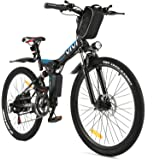 """VIVI Folding Electric Bike Electric Mountain Bicycle 26"""" Lightweight 350W Ebike, Electric Bike for Adults with Removable 8Ah"""