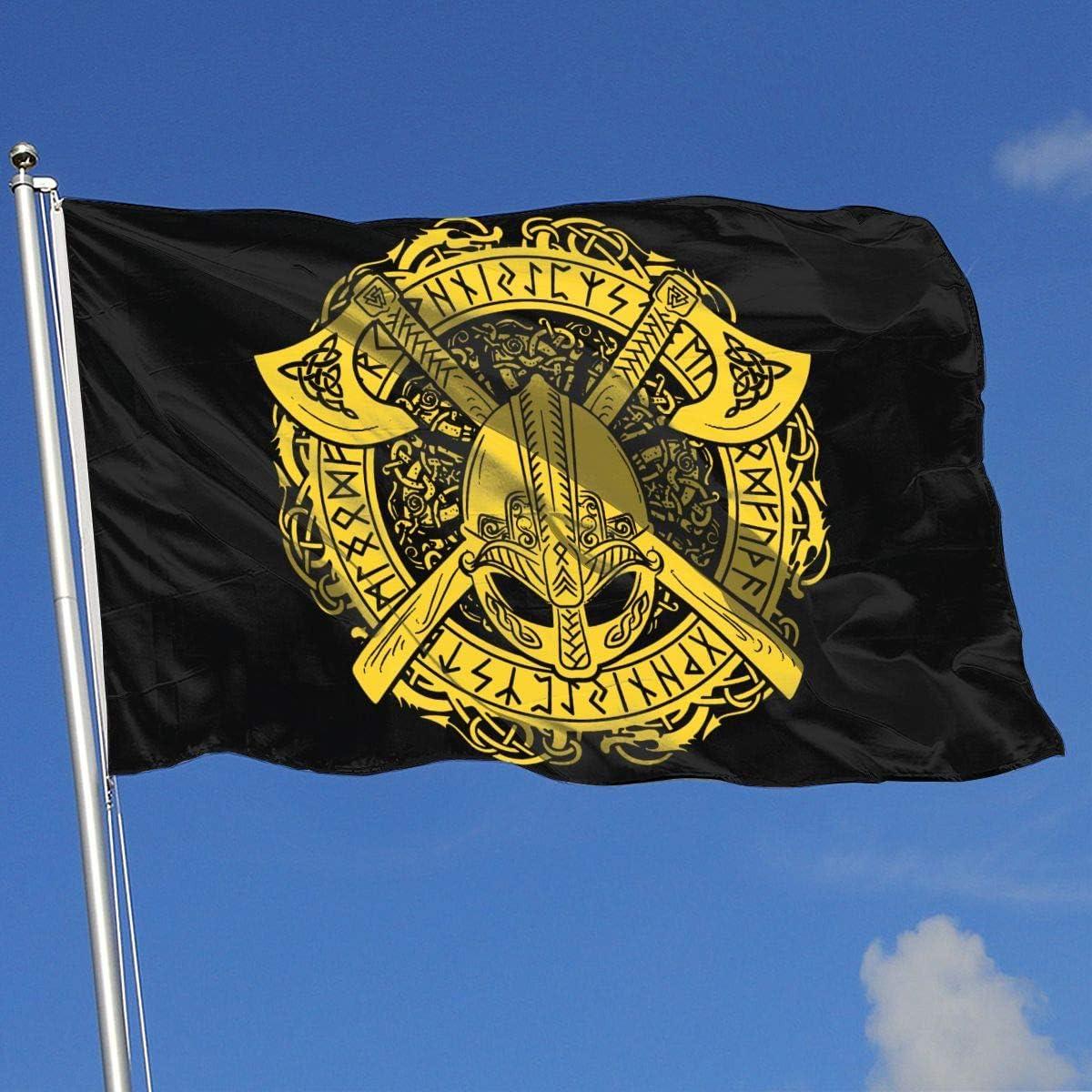 N / A 3X5 Ft, Bandera Brisa, Bandera Militar, Bandera De Demostración, Banderas De Jardín, Banderas De Vacaciones, Guerrero Vikingo: Amazon.es: Jardín