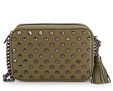 a4574bcf5ea0 Image Unavailable. Image not available for. Color  MICHAEL Michael Kors  Ginny Tasseled Studded Medium Cross-Body Bag