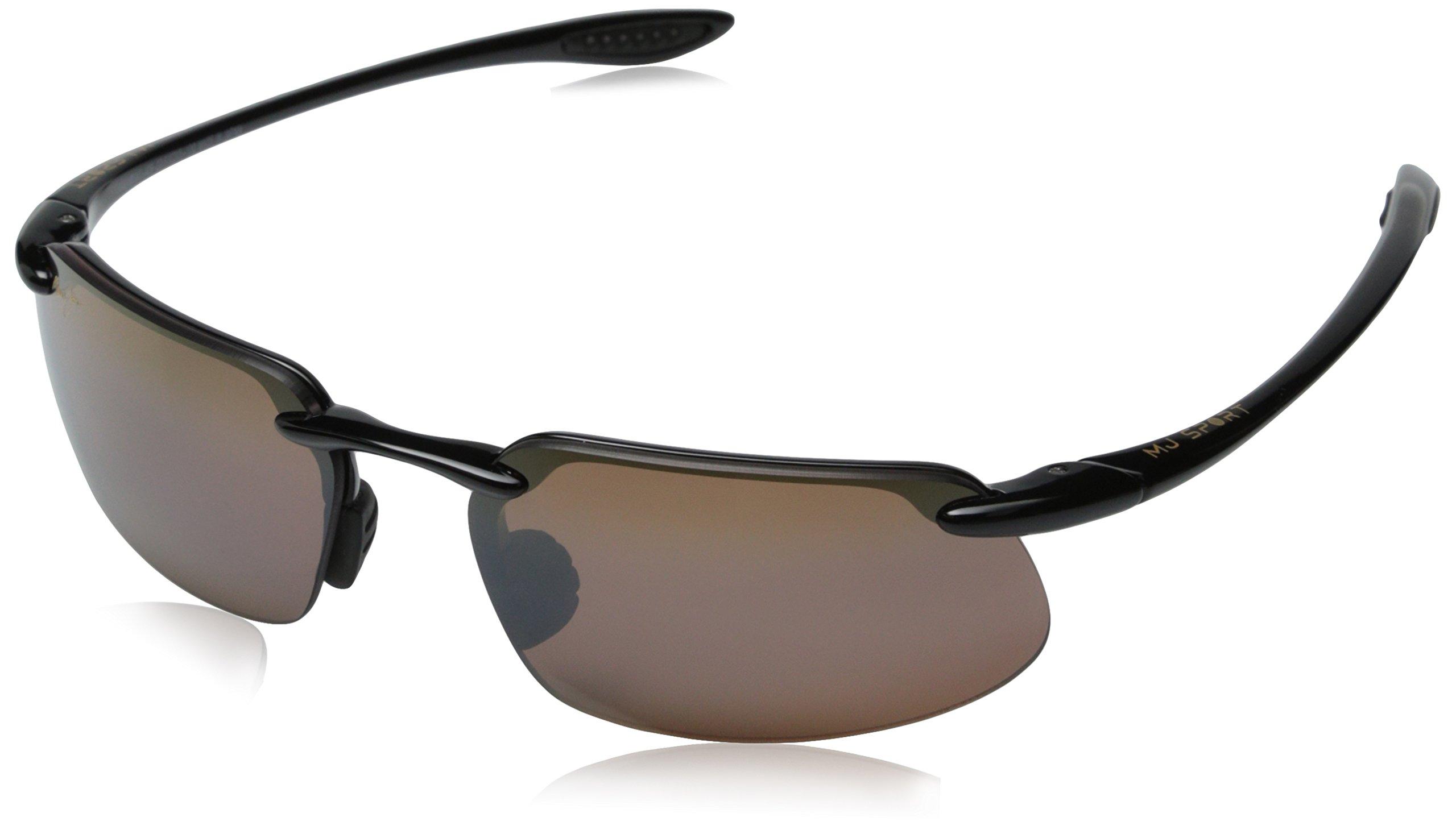 Maui Jim Kanaha Sunglasses,Gloss Black Frame/HCL Bronze Lens,one size